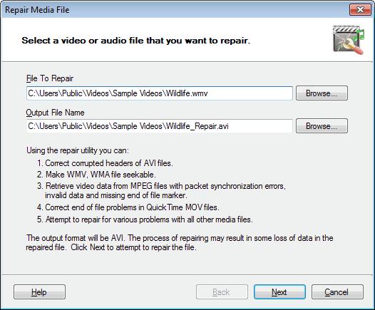 Digital Media Converter : Repair Media Files