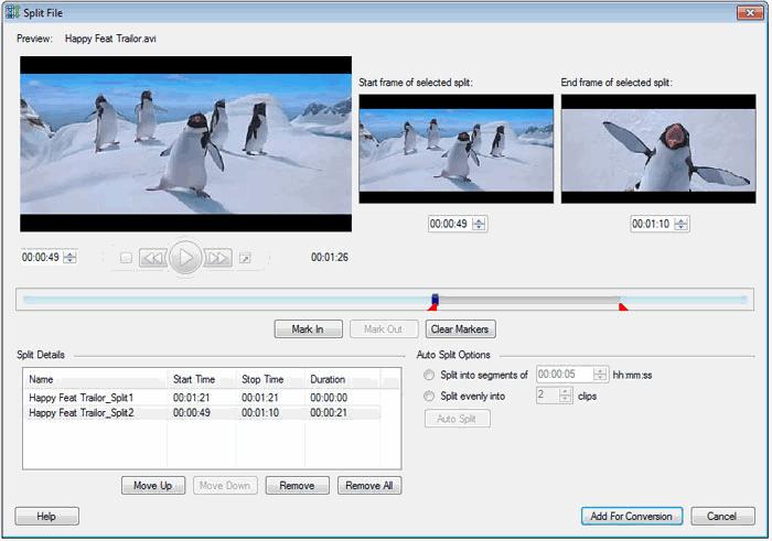 Digital Media Converter Pro : Split Your Media File