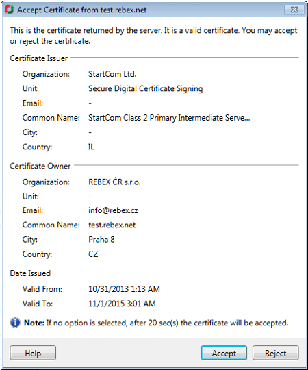 FTP Manager Lite : SSL Certificates