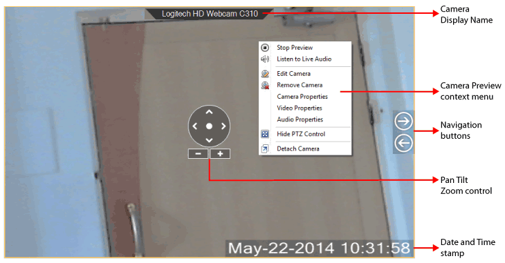 IP Camera Viewer : Camera Preview Layout