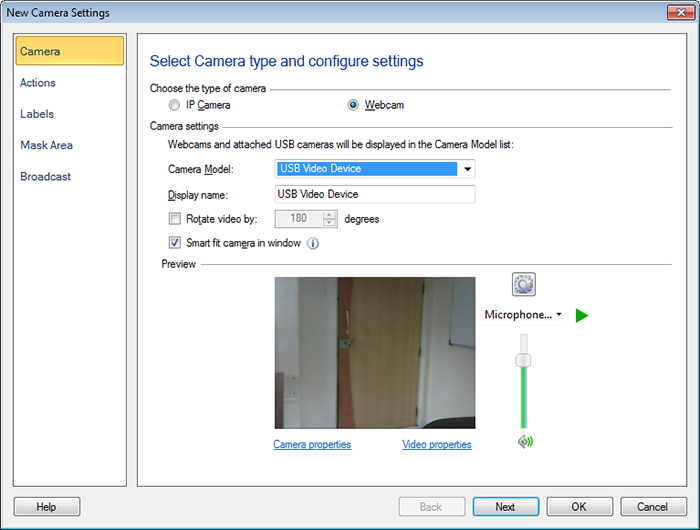 Security Monitor Pro : Add or Edit USB Cameras