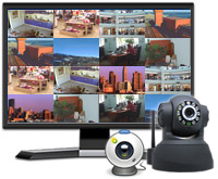 Security Monitor Pro - Control and view up to 32 IP cameras and Webcams simultaneously