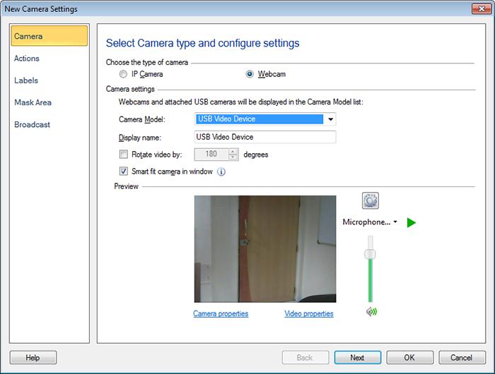 security monitor pro usb kameras hinzuf gen oder bearbeiten. Black Bedroom Furniture Sets. Home Design Ideas