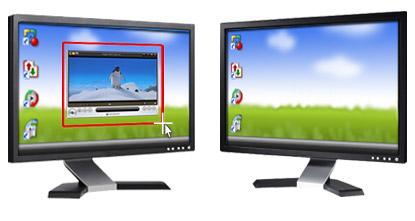 Usa monitores m ltiples para la grabaci n de pantalla - Medidas de monitores para pc ...
